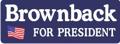 Sam Brownback for President