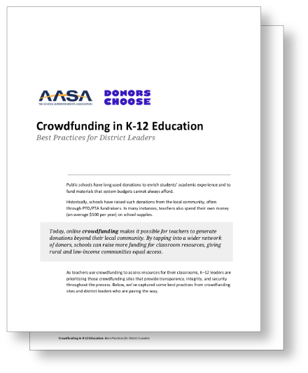 AASA Crowdfunding Best Practices