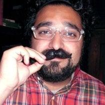 Saba's Mustachioed Face